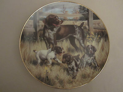 GERMAN SHORTHAIRED POINTER collector plate ROBERT CHRISTIE Sporting Dogs HUNTING