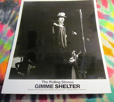 Rolling Stones - Gimme Shelter  -  8 X 10 Photo - Gs 11------  K @@ L