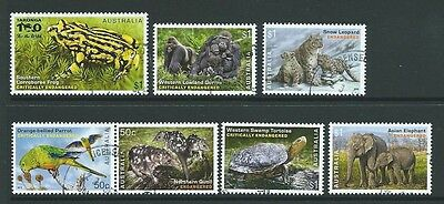 Australia 2016 Endangered Wildlife Set Of 7 Fine Used