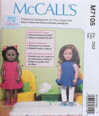 McCall\'s Pattern 7105 Learn to Sew Pattern- Clothes for 18 Inch ...