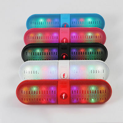 Portable Mini LED Light Wireless Bluetooth 4.0 Stereo Speakers for SmartPhone