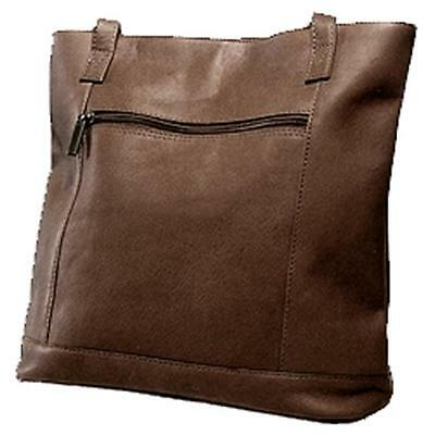 David King & Co 1065C Shopper with Front Zip Pocket & Magnetic Close Cafe