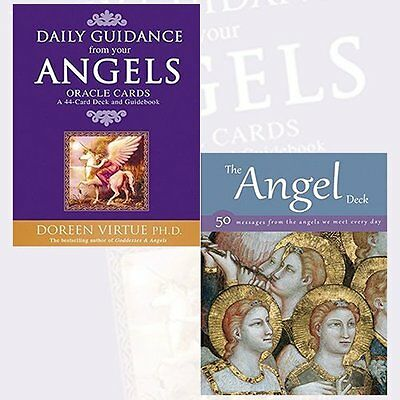 Daily Guidance From Your Angels Oracle Cards and Angel Deck 2 Books Colletion