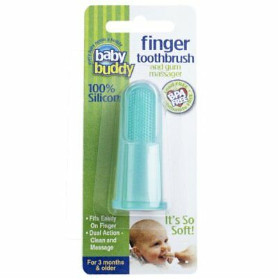 Baby Buddy Finger Toothbrush Stage 2 for Babies/Toddlers, Kids Love Them, New