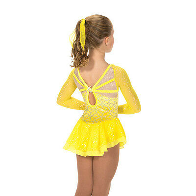 NEW COMPETITION SKATING DRESS Jerrys Yellow 163 Sun Rays 10-12