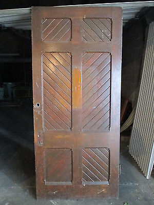 ~ UNUSUAL ANTIQUE OAK DOOR ~ 39.5 x 88.5 ~ ARCHITECTURAL SALVAGE ~