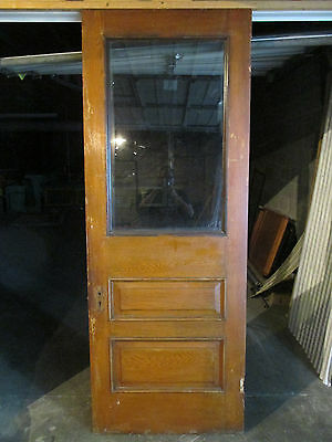 ~ ANTIQUE OAK AND CHERRY DOOR ~ 35.75 x 95.75 ~ ARCHITECTURAL SALVAGE ~