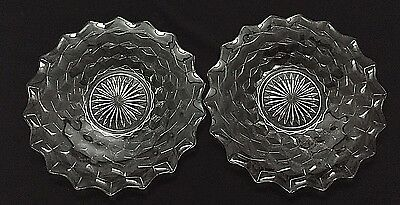 Set of 2 Fostoria American Plates - 9 1/8""