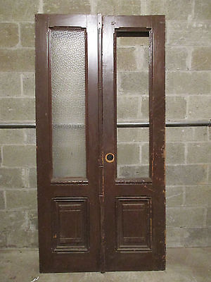 ~ ANTIQUE DOUBLE ENTRANCE FRENCH DOORS 41 x 81.75 ~ ARCHITECTURAL SALVAGE ~