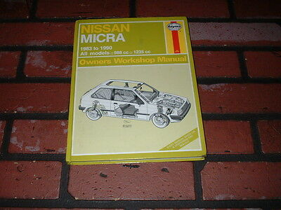 Haynes Manual For Nissan Micra K10. 1983 To 1990.