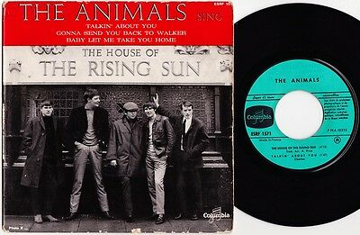 THE ANIMALS House of the rising sun 1964 French P/S Eric Burdon R&B Mod Hear