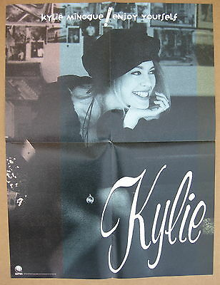 KYLIE MINOGUE Enjoy Yourself 1990 US Promo POSTER Hand On Your Heart MINTY!