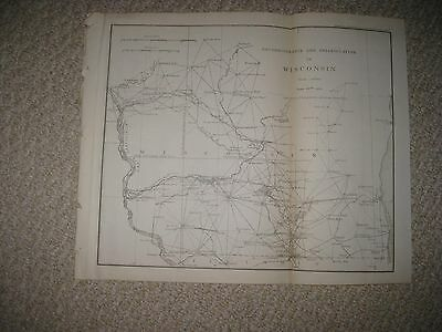 Superb Rare Antique 1886 Wisconsin Map Milwaukee Madison Dated Detailed Map Fine