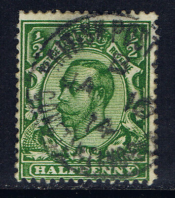 Great Britain #151(12) 1911 1/2 pence green George V Used CV$4.50