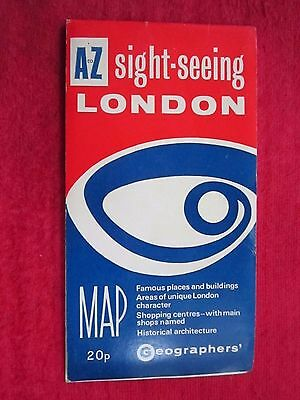 1970's LONDON ENGLAND SIGHTSEEING PICTORIAL MAP