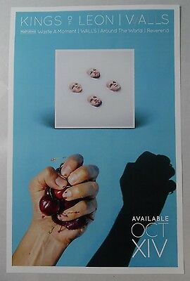 "Kings of Leon - Walls * 2 Sided 11"" x 17"" Official Promo Poster * Limited"