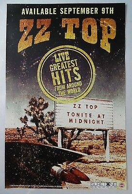 "ZZ Top - Live Greatest Hits * 11"" x 17"" Official Promo Poster * Limited"