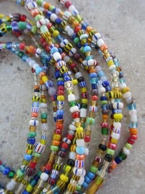 African Glass Beads -6 Strands [65637]