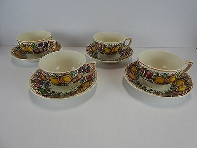 Barker Bros For Weil Set of 4 Cups and Saucers Lot 1