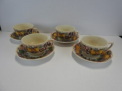 Barker Bros For Weil Set of 4 Cups and Saucers Lot 2