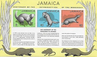 JAMAICA - 1972 - Centenary of Introduction of the Mongoose in Jamaica 1872-1972