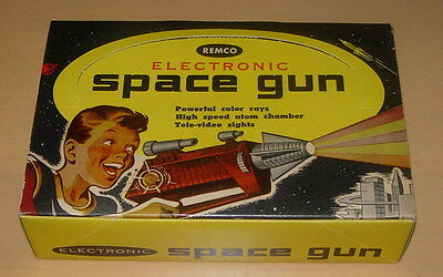 Other Collectible Ads 1954 Paper Ad Remco Electronic Space Gun #600 Retail Box Package