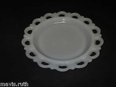 """Anchor Hocking Glass LACE EDGE Old Colony Milk Luncheon Plate 8¼"""" Depression."""