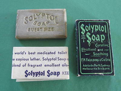 Unused vintage Solyptol Soap F H Faulding & Co with Box original packaging