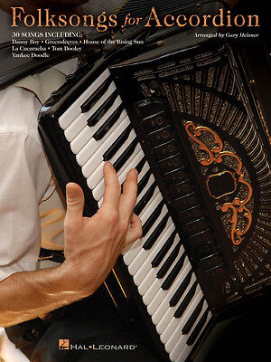 Folksongs For Accordion 30+ Folk Songs Sheet Music Song Book