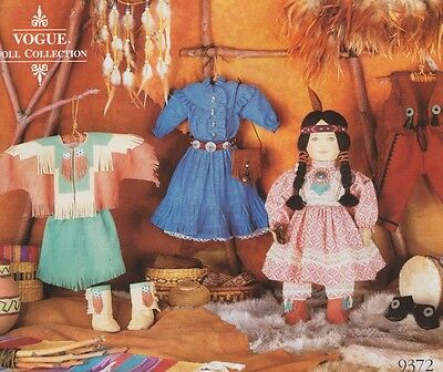 """Vogue 9372 540 18"""" Doll Native American Indian Doll Clothes Pattern - LindaCarr"""