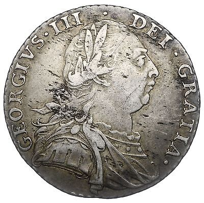 1787 Shilling - George Iii British Silver Coin - Nice