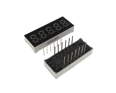"0.23"" 5 Digit 7-Segment LED Display DIP Common Cathode - Red"