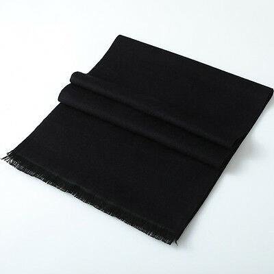 Men's Cashmere Scarf Pure Color Classic Winter Scarf Stole Wraps Shawl Xmas Gift