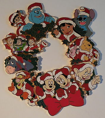 Disney Pin 2002 DS 12 Months of Magic Christmas Wreath Set Of 8 Pins