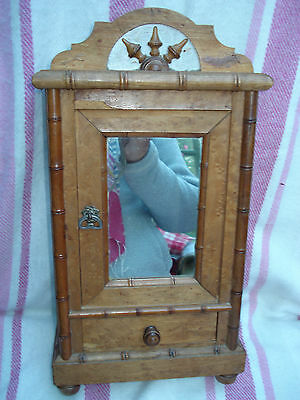 Antique Victorian Miniature French Doll's Armoire Wardrobe Apprentice Piece