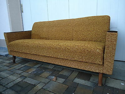 Vintage retro couch sofa garnitur 2 easychair sessel for Couch 60 jahre