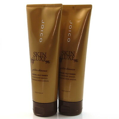 2x Joico Skin Luxe Golden Shimmer Gradual Self-Tanner Sunless Tanning Lotion