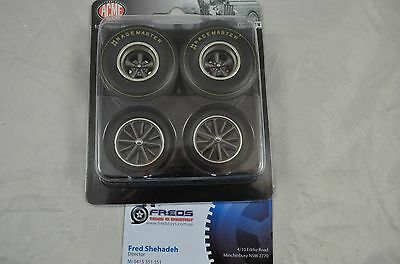 1:18 scale Dragster Wheel & Tyre set 4pcs Racemaster suitable for 1:18 model car
