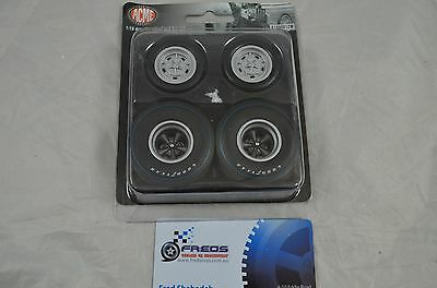 1:18 scale Dragster Wheel & Tyre set 4pcs Goodyear suitable for 1:18 model car