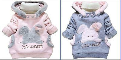 Toddler Baby Girls Winter Hooded coats Jacket Kids Girls Clothes Outerwear