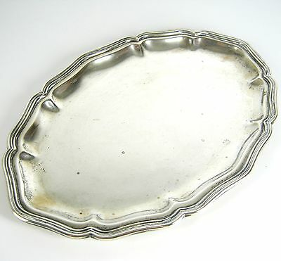 Altes Tablett aus 800er Silber Serie Chippendale Silver Serving Tray 173g