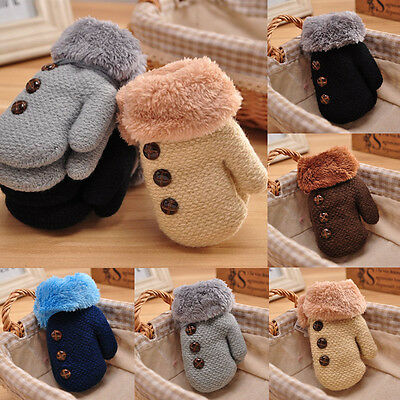 Newborn Baby Kids Winter Warm Gloves Girls Boys Stretchy Knitted Mittens Gift