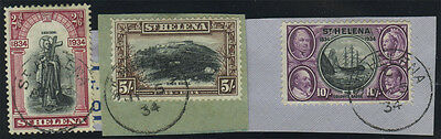 St Helena, SG 114/123, 1934 Centenary set of 10v to 10/- very fine used, complet