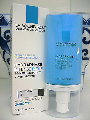 LA ROCHE POSAY HYDRAPHASE INTENSE RICHE 24H Moisturizer Hyaluronic Acid NEW/BOX