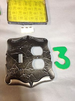 Vintage Amerock Carriage House Antique Silver Light Switch Receptacle Plate 3