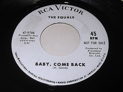 The Eauals: Baby, Come Back / Hold Me Closer 45