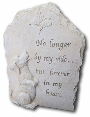 Beloved dog resin memorial plaque, No longer by my side....