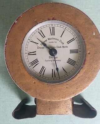 RARE Vintage Chicago Watchman's Clock 1912 Made in Germany