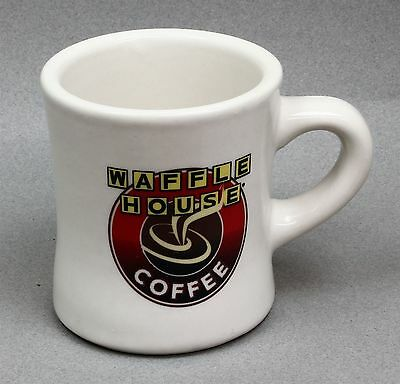 Waffle House Logo Advertising Heavy Ceramic Coffee Cup Mug Diner Restaurant Ware