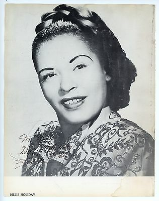 Billie HOLIDAY (Jazz): Signed Photograph